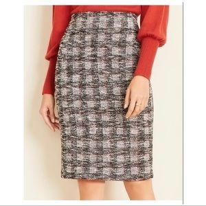 Ann Taylor windowpane pencil skirt size 0